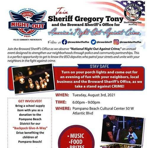 America's Night Out Against Crime - Cancelled