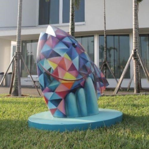 Weaver Park Painted Pompano Sculpture Image